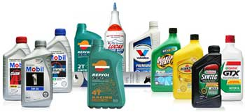 Lubricants from various brands