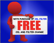 Special Offer - FREE Oil & Filter Change!!