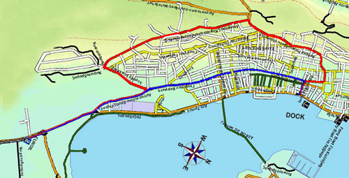 This is the map of Argostoli showing directions to Kefalonia Liquid Fuels